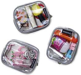 Keokee Small Clear Cosmetic Cases or Multipurpose Bags | Organizer and Travel Packing Pouches | Set of 3