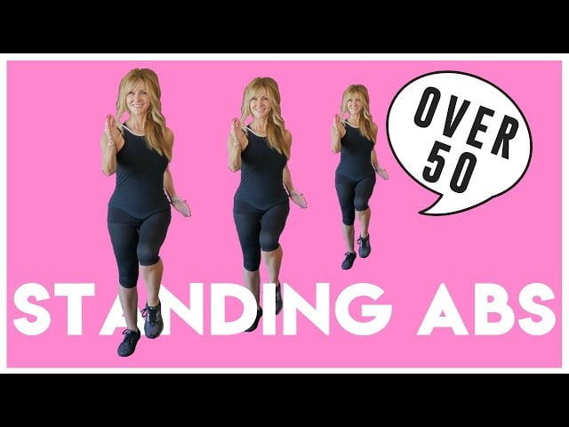 Indoor Walking Workout STANDING ABS Low Impact!