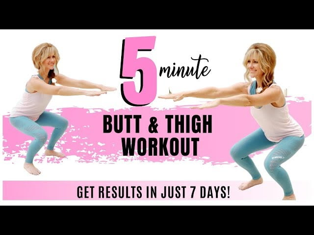 5 MINUTE BUTT AND THIGH WORKOUT FOR WOMEN OVER 50 | GET RESULTS IN JUST 7 DAYS | FABULOUS50S!