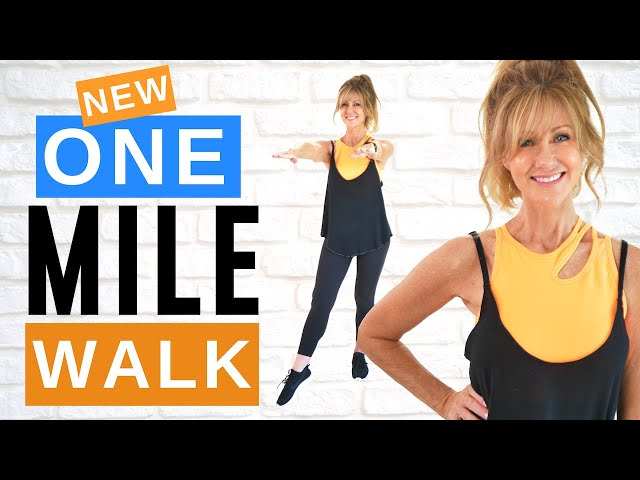 1 MILE WALK | INDOOR WALKING WORKOUT | FABULOUS50S 14 DAY CHALLENGE!