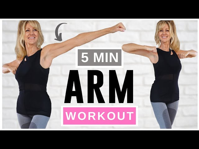 5 MINUTE TONED ARM WORKOUT FOR WOMEN OVER 50 – NO EQUIPMENT