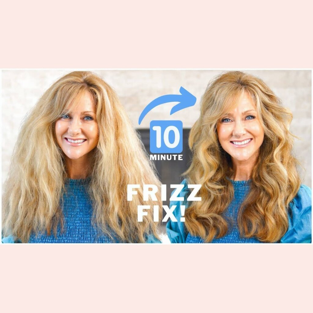 How To Style FRIZZY HAIR For Women With Very Dry Hair!