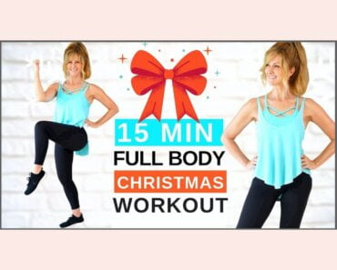 15 Minute FULL BODY Christmas Workout For Women Over 50!
