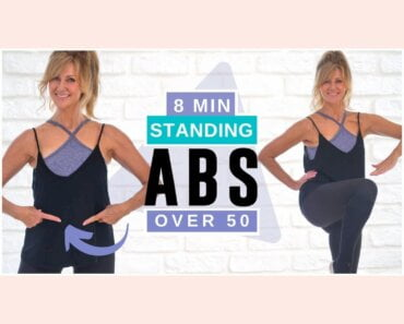 8 Minute Standing Abs Indoor Workout Over 50 | Burn Belly Fat!