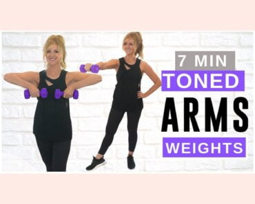 7 Minute TONED ARM Workout With Weights Over 50!