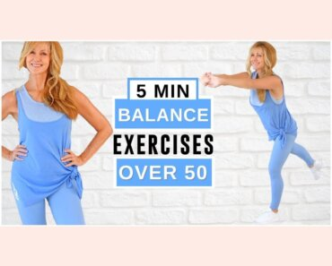 5 Minute Balance Exercises For Women Over 50