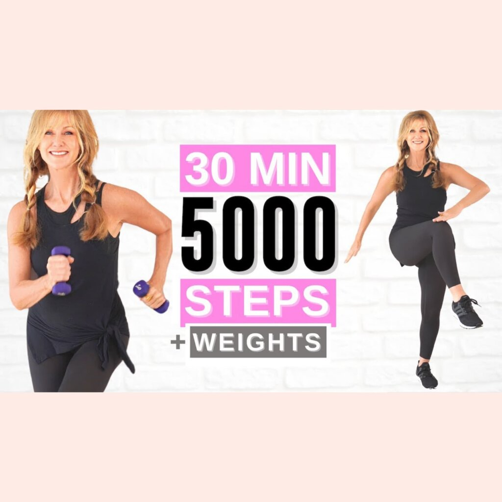 30 Minute 5000 STEPS Indoor Walking Workout For Women Over 50!