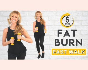 5 Minute Fat Burning Fast Walk | Quick Easy Done!