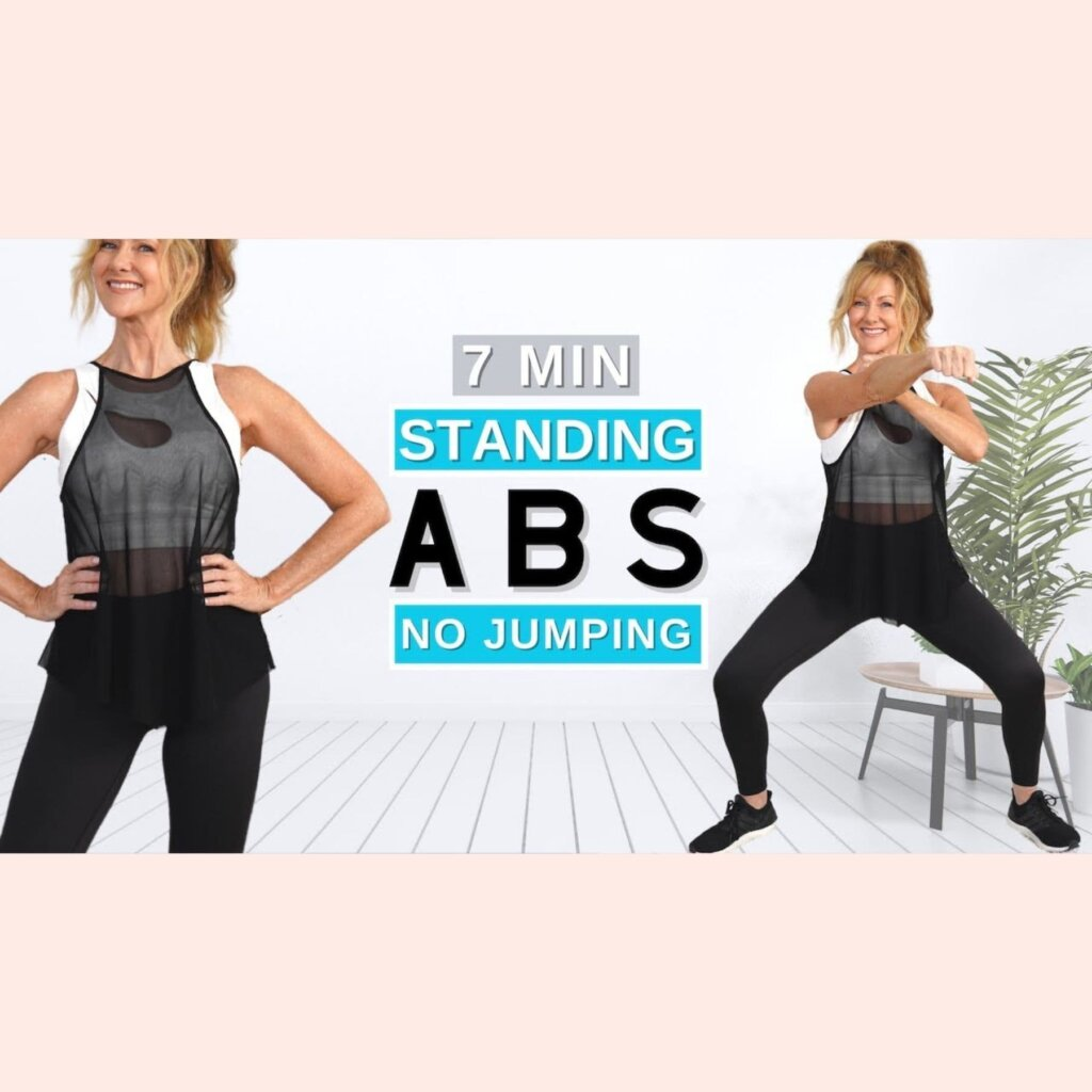 7 Minute Standing ABS Workout To Lose Belly Fat | Beginner Friendly!
