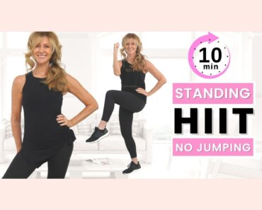 10 Minute Low Impact HIIT Workout | Standing Full Body Fat Burn!