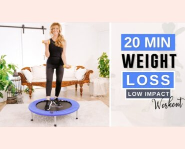 Rebounder For Weight Loss Workout With Weights!