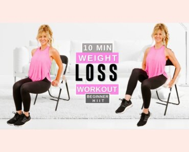 10 Minute Chair Workout For Weight Loss | Women Over 50!